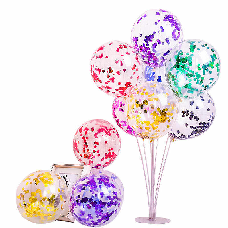 "12"" Confetti Funny Balloons Clear Ballons Party Wedding Party Decoration Kid Children Birthday Party Supplies Air Ballon Toys"