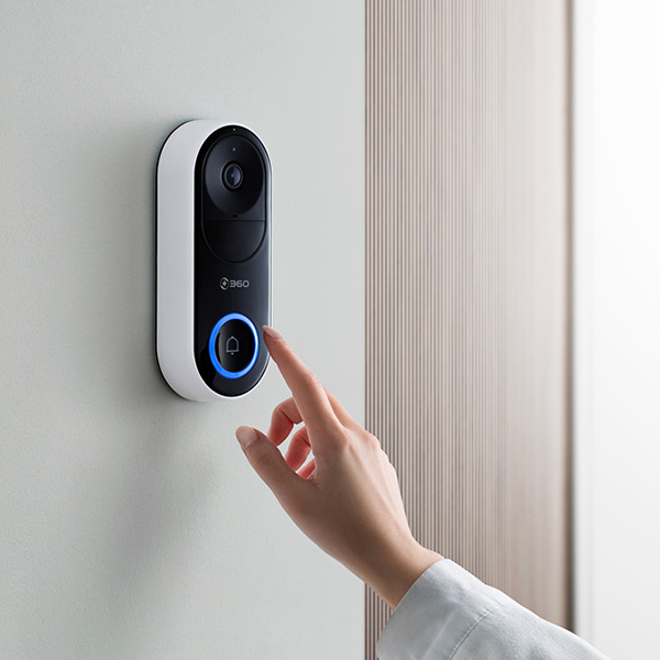 360 Remote Monitoring Smart Camera Doorbell Wireless WiFi / Visitor Recognition / Video Call / Ultra Clear Night Vision #4