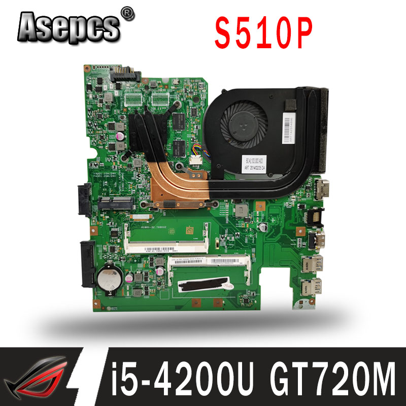 12293-1 48.4L106.011 Motherboard For Lenovo S510P LS41P LS51P Motherboard I5-4200U CPU GT720M-2G Original Work Tested