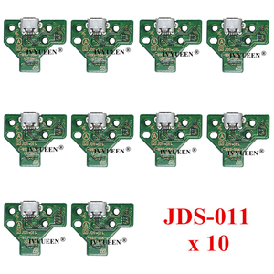 Image 3 - 10個jds 050 040 030 011 usb充電ポートソケットボードプレイステーション4 PS4 DS4プロスリムコントローラ充電器pcbボード