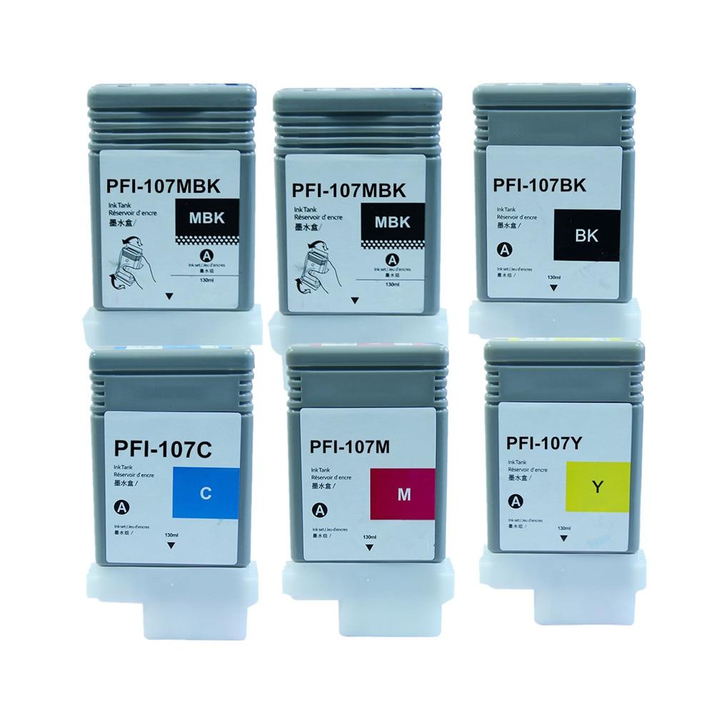Yellow PFI-107Y ink cartridge for use PFI107 Canon IPF 670 680 685