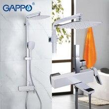 Bateria wannowa GAPPO chrome prysznic z hydromasażem zestaw łazienka opady deszczu mikser ściana prysznica torneira do anheiro kran wanna