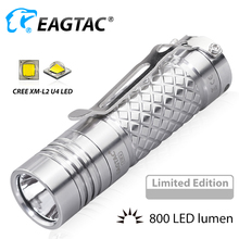 EAGTAC D3C Ti XM-L2 U4 LED Flashlight Super Bright 800LM EDC Mini Torch 16340 CR