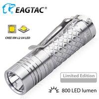 EAGTAC D3C Ti XM L2 U4 LED Flashlight Super Bright 800LM EDC Mini Torch 16340 CR123A Limited Edition