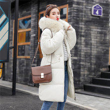 Women Winter Casual Fashion Pure color Outwear Cotton-Padded Jackets Pocket Fur Hooded Long Coats M0828 women fashion outerwear long cotton padded jackets pocket faux fur hooded coats female hooded jacket high quality jacket y829