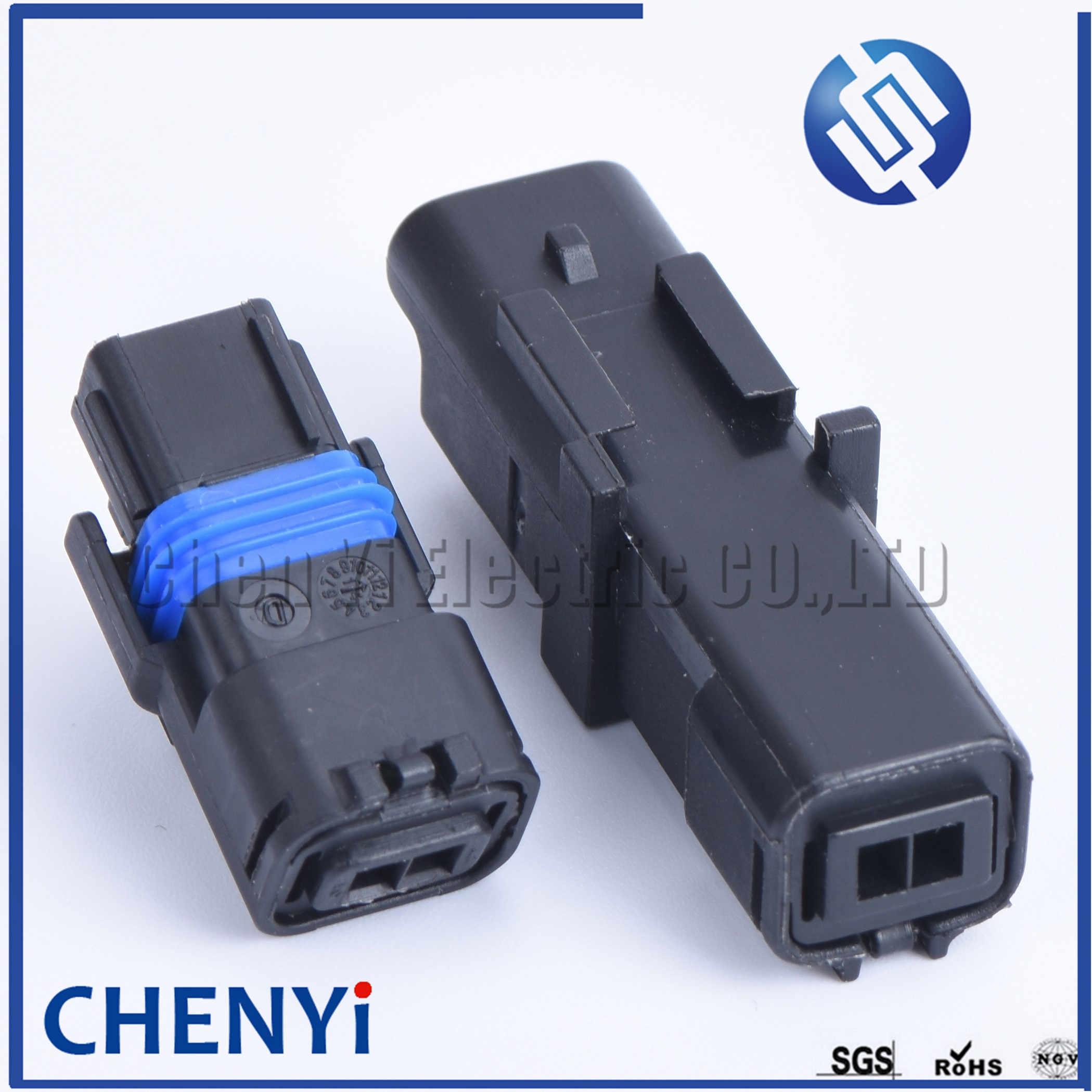 1 Set 2 Pin 211PC022S0049 211PL022S0049 Konektor Otomotif Lamphold Fitting untuk Sicma FCI Con-391 Sein plug