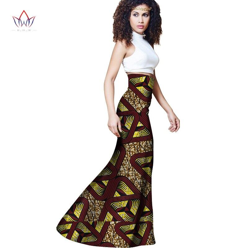 Autumn Woman Long Maxi Skirt for Women African Dashiki for women Bazin riche robe longue femme Plus Size Skirt natural wy1113