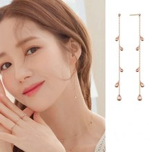 Korean TV Star Temperament Long Tassel Dangle Earrings For Women 2019 Simple Design Jewellery Party Gift Girls Metal Earring(China)