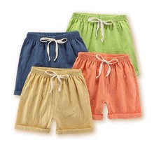 Shorts Panties Baby-Girl Infant Boys Solid-Color Kids Summer Children Beach 2-5year Flax