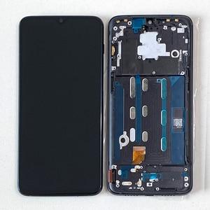 "Image 1 - M & Sen Original de 6,41 ""Super Amoled para OnePlus 6T One Plus 6T pantalla LCD con marco + Digitalizador de Panel táctil para con marco"