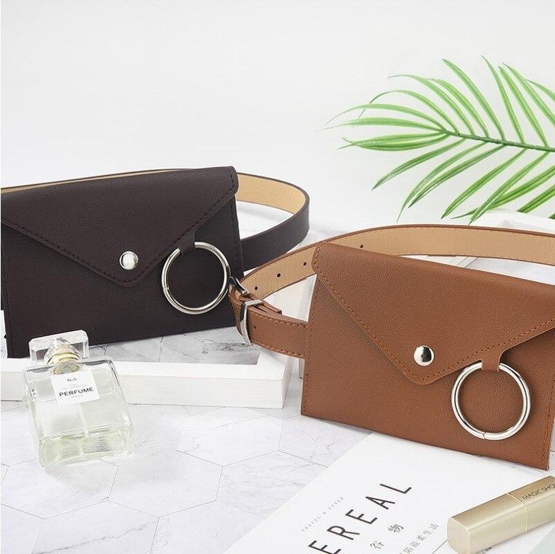 Belt Pocket Belt Bag Wholesale Fashion Women's Leather Waist  Mini Mobile Storage  With  Bolsos De Cintura Cuero Hombre