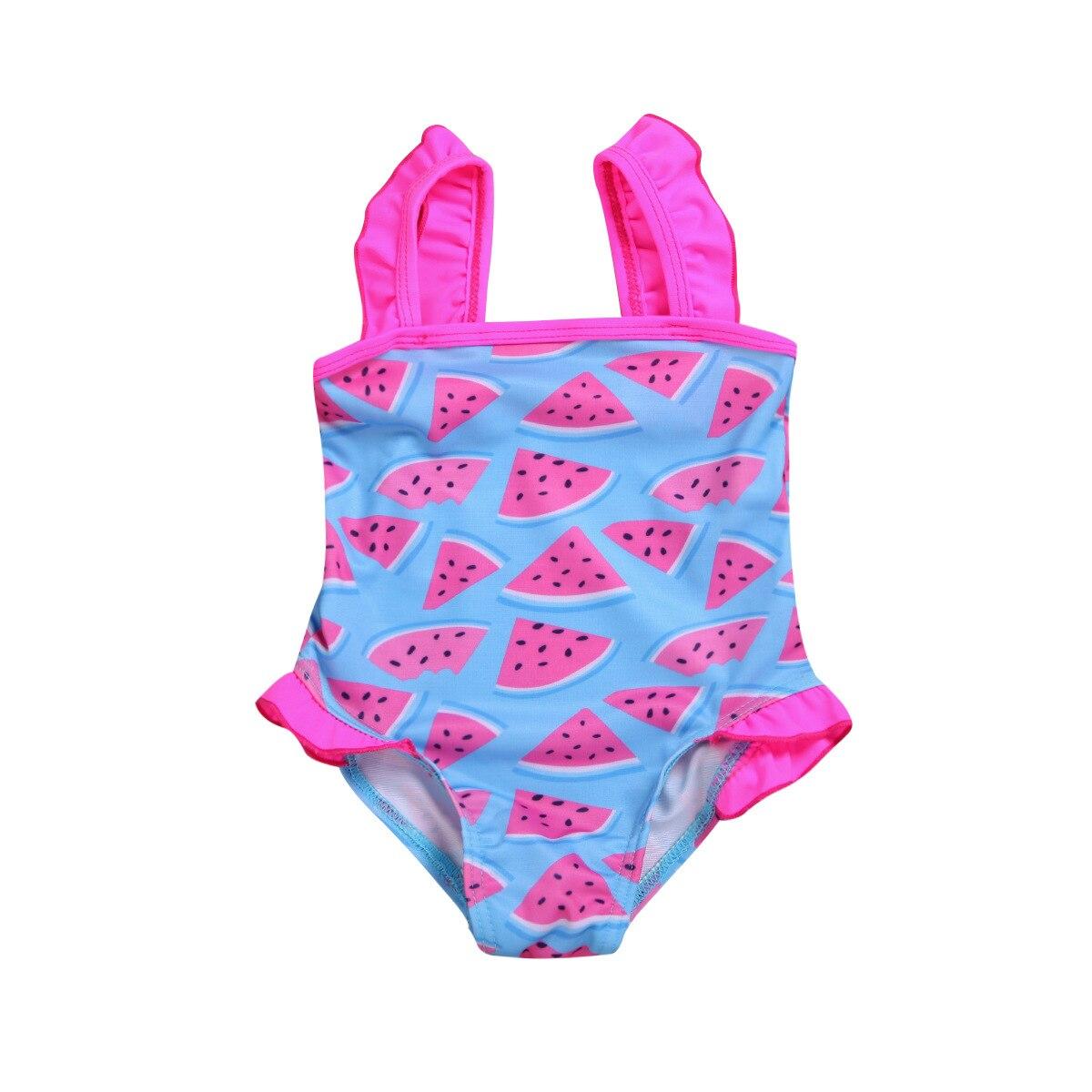 Summer Girls Cartoon Unicorn KID'S Swimwear Baby GIRL'S One-piece Printed Bathing Suit Camisole Swimwear