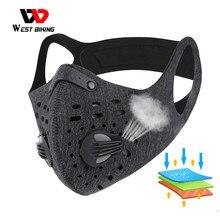 WEST BIKING Спортивная маска для лица с фильтром из активированного угля, Пылезащитная маска PM 2,5 против загрязнения, маска для бега, тренировок, ...