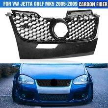 Grille Jetta Mk5 2009 2008 Bumper Mesh Carbon-Fiber Auto-Front-Center 2006 Black