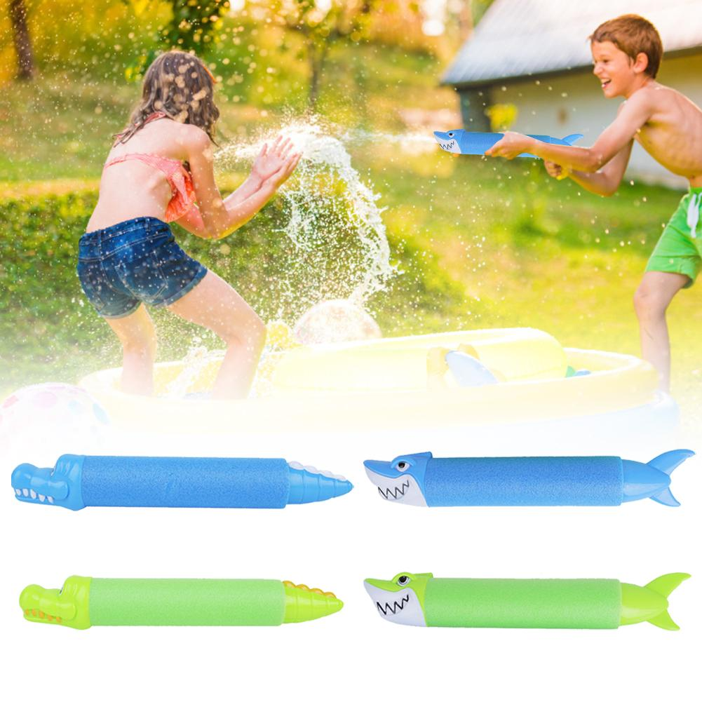 2020 Children's Cartoon Animal Water Sprayer Toys EVA Shark Pull Water Toys For Water World Beach