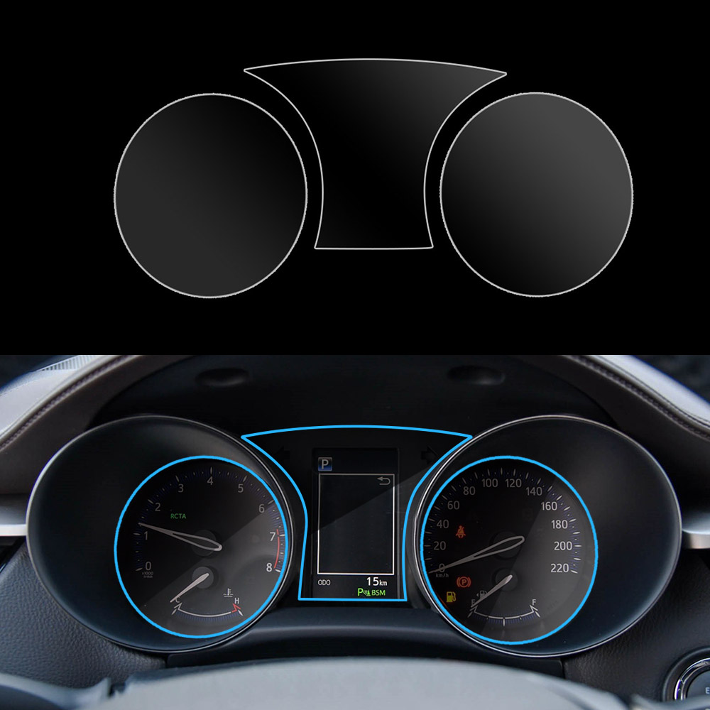 Car Instrument Panel Screen Protector Fit For Toyota C-HR CHR 2016 - 2019 Car Interior Dashboard Membrane Protective TPU Film