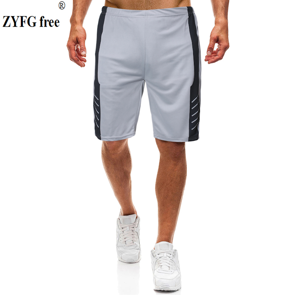 Simple Men's Shorts Casual Splice Middle Waist Elastic Waist Shorts Outdoor Sports Comfort Menswear Loose Pants