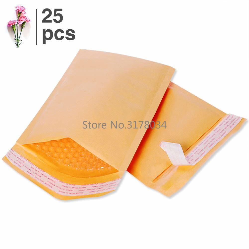 25pcs Large Padded Envelopes Kraft Paper Bubble Mailers Small Bubble Shipping Envelopes