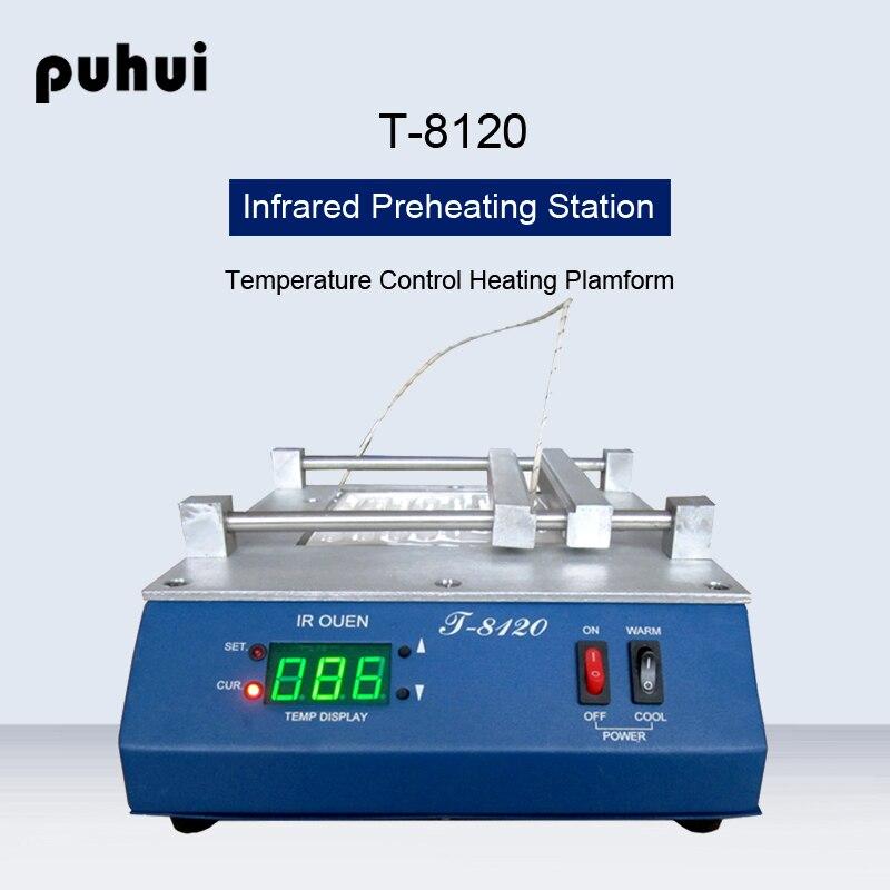 PUHUI T-8120 Station de préchauffage infrarouge à température constante SMD PID Station de préchauffage à contrôle de température
