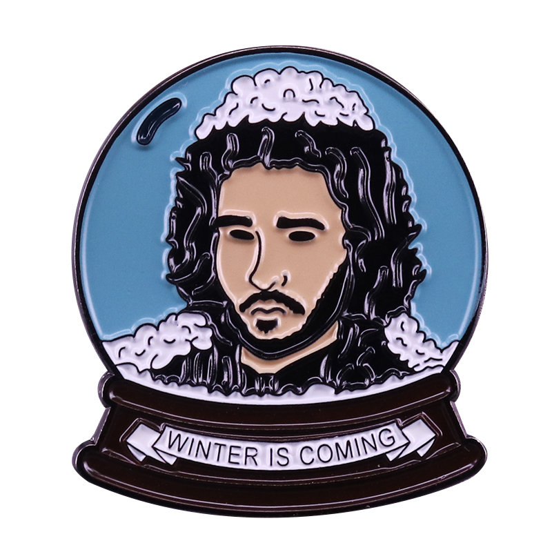 Winter Is Coming Enamel Pin A Song Of Ice And Fire Inspired Brooch image