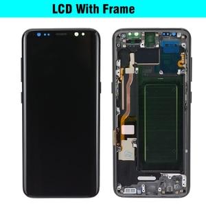 Image 4 - Super AMOLED para Samsung Galaxy S8 S8 plus G950 G950F G955fd G955F pantalla Lcd con pantalla táctil pantalla digitalizar