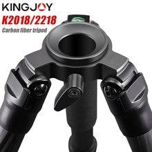 цена на KINGJOY K2018/2218 carbon fiber tripod Light Weight for digital camera tripode Suitable for travel Top quality camera stand