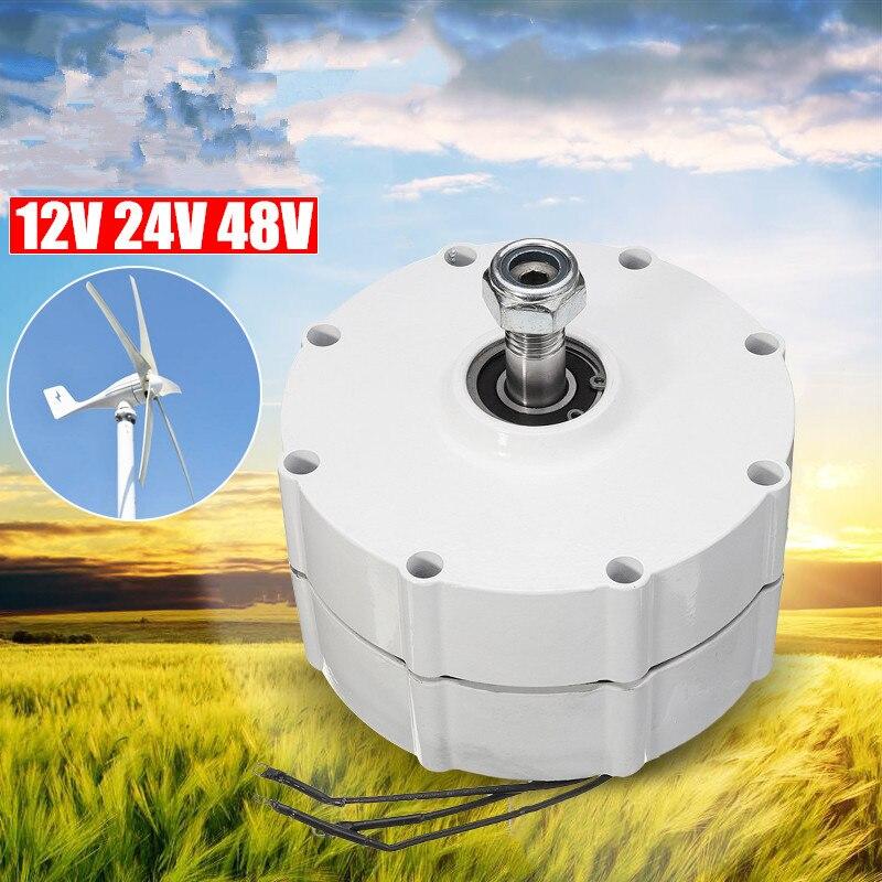 Generatore di vento Motore 12 V/24 V/48 V FAI DA TE Turbine Eoliche ad Alta efficienza A Magnete Permanente del motore A Bassa velocità di rotazione 3 Corrente di Fase PMSG