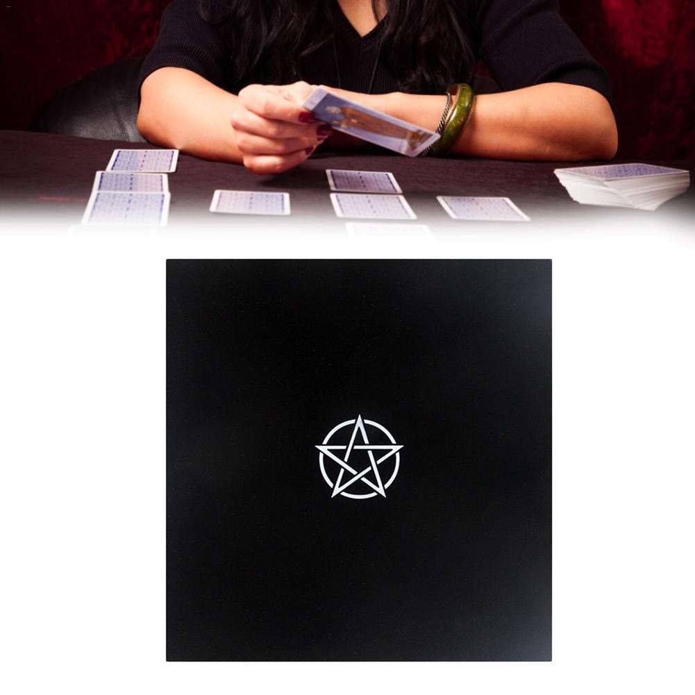 Black Altar Tarot Cards Bag Party Table Cloth Pentagram Retro Tablecloth For Divination Wicca Black Cloth
