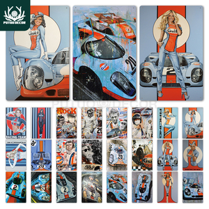 Gulf Gasoline Vintage Tin Sign Plaque Matel Poster Wall Decor Garage Man Cave Pub Bar Gas Station(China)