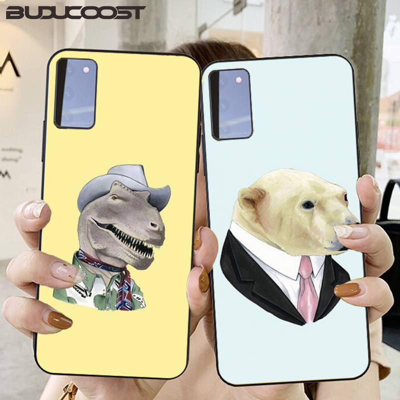 Cute Animal Dress Up Phone Case Cover For Samsung Galaxy S6 7 8 9 10 20 S6 7 Edge Plus S9 10 Plus Elite S20 UITRA