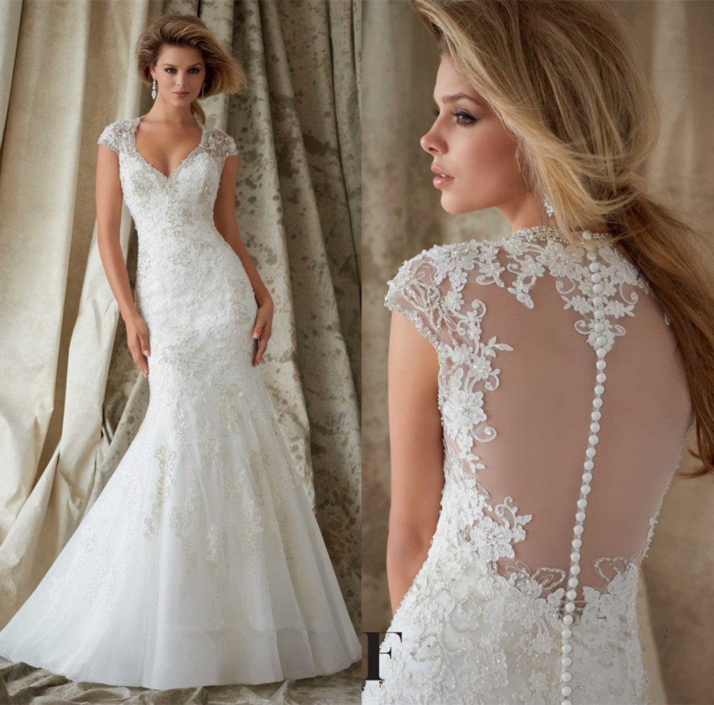 Vintage Sexy Beaded Lace Mermaid Bridal Gown With Sleeves 2018 Vestido De Noiva Sereia Abendkleider Mother Of The Bride Dresses