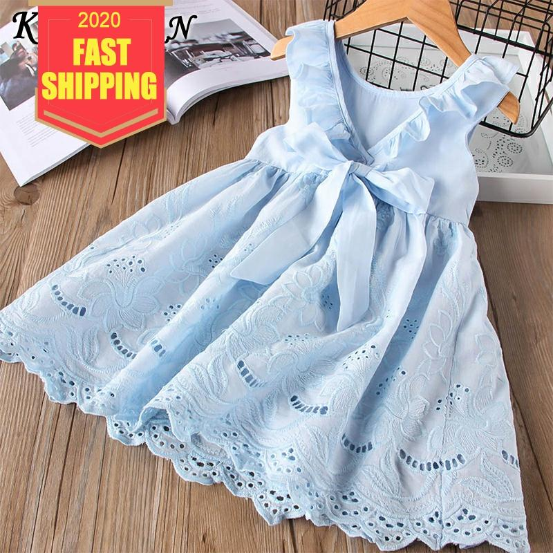 Keelorn Girl Dress Summer Cotton Children Clothing Sleeveless Toddler Princess Kids Dresses For Girls Clothes Embroidery Vestido
