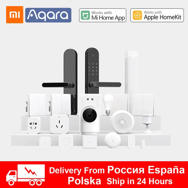 Набор для умного дома Xiaomi Aqara хаб 3 настенный беспроводной переключатель лампа дверь датчик движения температуры релейный модуль камера MI Home