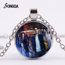 SONGDA Fashion Riverdale Figure Necklace Keep Calm And Watch Poster Glass Dome Pendant TV Fans Collection Choker Cool Necklaces(China)