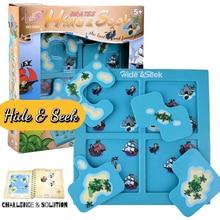 SUKIToy Kids Soft Montessori Early Head Start Training Toy Hide&Seek IQ Desktop games With Solution book SC002