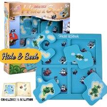 Zabawki dla dzieci zabawa w chowanego piraci przedszkole Puzzle łamigłówka gra planszowa dla dzieci w wieku 4 lat z 48 zabawnymi wyzwaniami