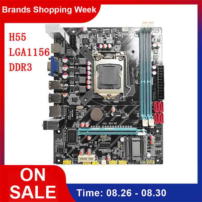 H55 Motherboard New LGA1156 DDR3 Supports I3 I5 I7 CPU Motherboard PCI-Express USB Ports Mainboard Main Board For Computer