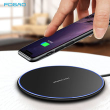 FDGAO 15W Wireless Charger For iPhone 11 Pro X XS Max XR 8 Plus Airpods Pro Qi Fast Charging Pad For Samsung S20 Ultra S10 Plus(China)