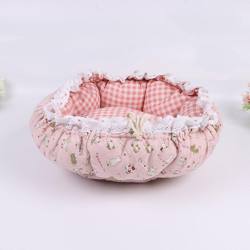 Pet Dog Nest flower Bud Nest Pumpkin Nest Small Dog Kennel Cat Nest Pet Mat Sleep Nest For Cat Teddy Chihuahua Bed 12