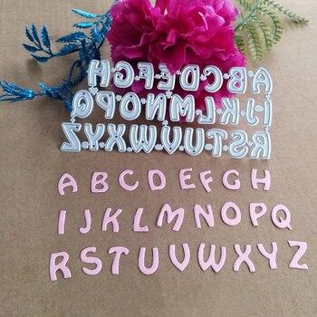 Modelo de cartón de decoración de 26 letras, de metal, molde de...