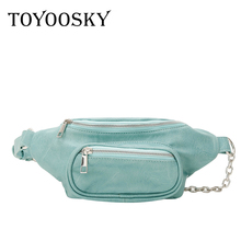 TOYOOSKY High quality Waist Bag for Women pu Leather Fanny Pack Phone Pouch Chest Packs Ladies Belt Female Crossbody Flap