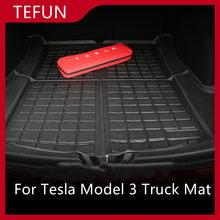 Tapis de coffre avant et Cargo Durable, accessoire de voiture pour tesla modèle 3, tapis de Modification en élastomère thermoplastique noir, accessoire auto