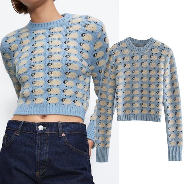 Little Sheep Pattern sweater for woman