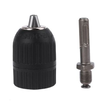 SDS Plus Shank to 1/2\ 20 UNF Keyless Chuck Adapter Impact Drill 3-Jaw 2-13mm power hammer drill E15A 12mm thread dia sds plus round shank drill chuck adapter connector gray
