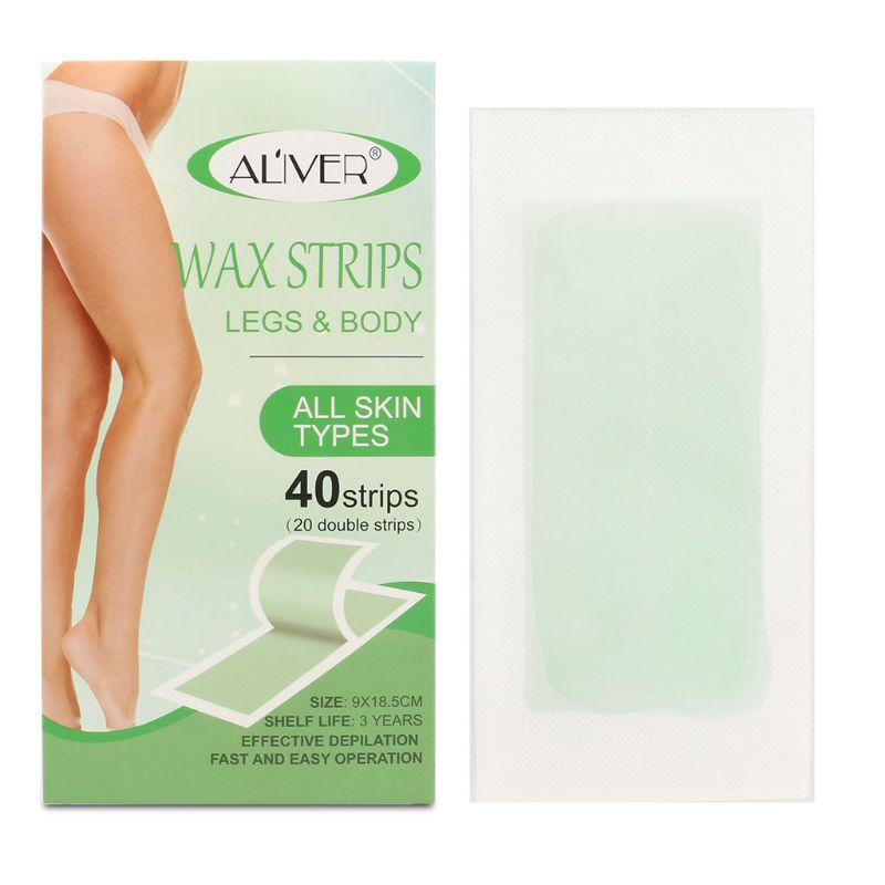 20PCS Double Side Hair Removal Cold Wax Strips Paper For Body Facial Hair Remove NEW