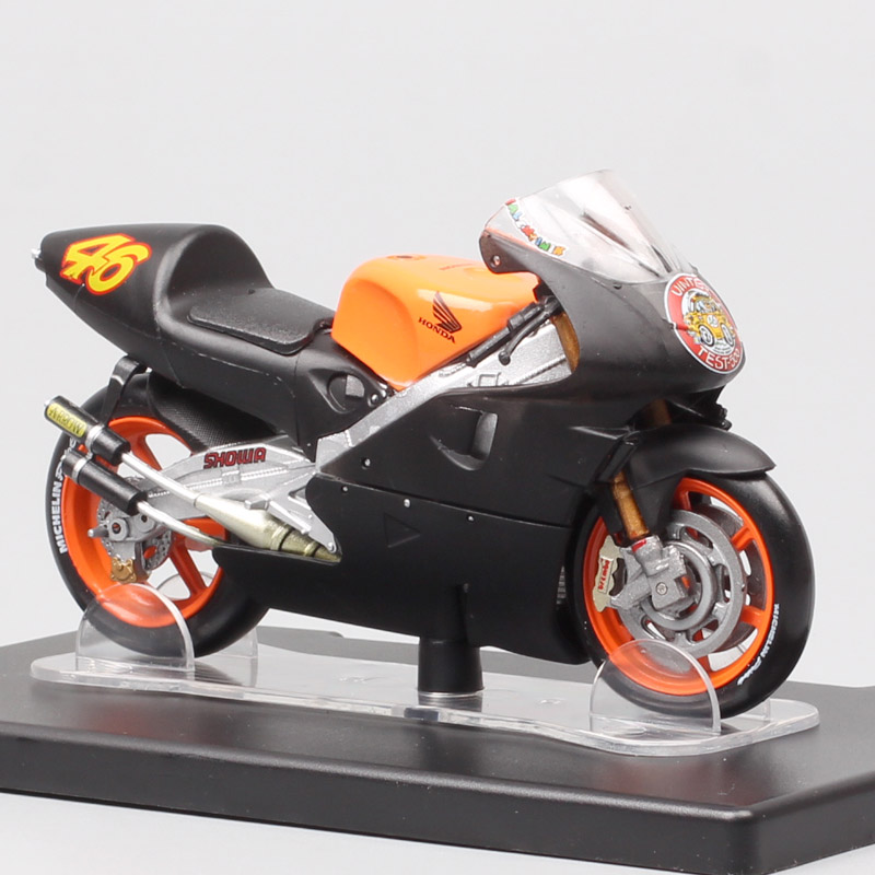 1:18 Scale Honda NSR 500 1st Test Jerez 1999 #46 GP Racing Motorcycle Model Diecasts & Toy Vehicles GP Racer Rossi Bike Moto Toy