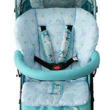 Теплая хлопковая подушка для детской коляски, портативный коврик для детской коляски, детская коляска, детское сиденье, теплый коврик с рисунком кролика из мультфильма
