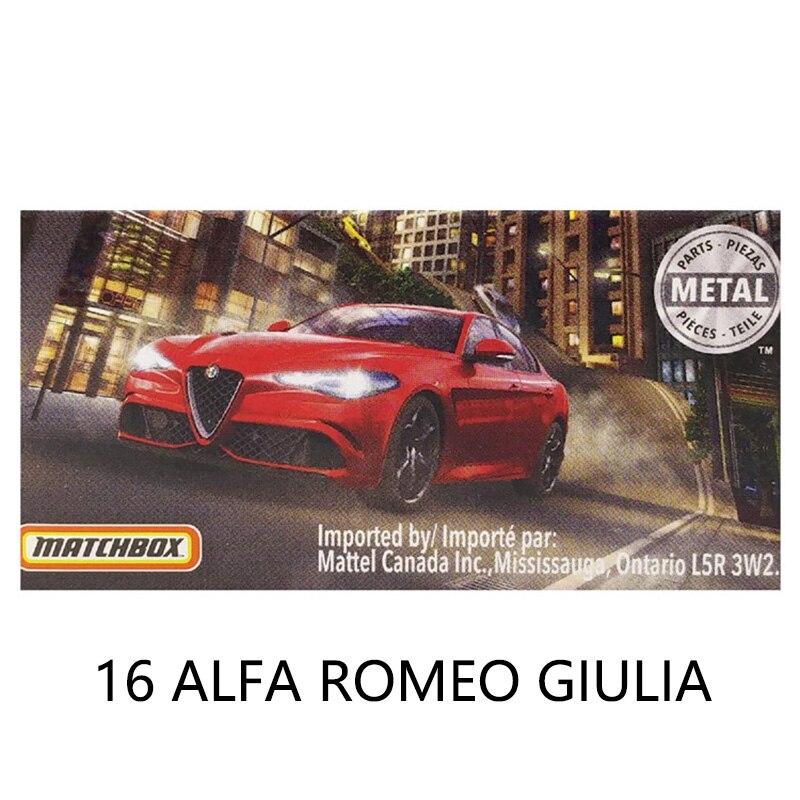 2020 Matchbox Car 16 ALFA ROMEO GIULIA Collector Edition Metal Diecast Model Car Kids Toys