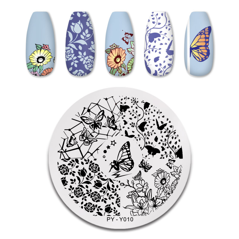 PICT YOU 12*6cm Nail Art Templates Stamping Plate Design Flower Animal Glass Temperature Lace Stamp Templates Plates Image 25