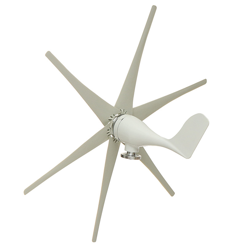 800W 12V/24V/48V 6 Blade Wind Generator+Controller Wind Turbines Horizontal Home Power Windmill Energy Turbines Charge